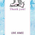 Ice Skating Personalised Thank You Card additional 4