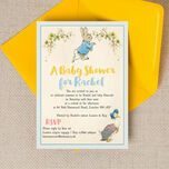 Peter Rabbit & Jemima Puddle Duck Baby Shower Invitation additional 2
