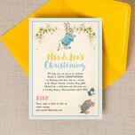 Peter Rabbit & Jemima Puddle Duck Christening / Baptism Invitation additional 1