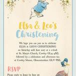 Peter Rabbit & Jemima Puddle Duck Christening / Baptism Invitation additional 2