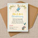 Peter Rabbit & Jemima Puddle Duck Christening / Baptism Invitation additional 3