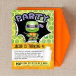 Turtle Superhero Birthday Party Invitation additional 2