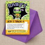 Turtle Superhero Birthday Party Invitation additional 1