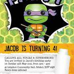Turtle Superhero Birthday Party Invitation additional 4