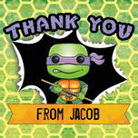 Turtle Superhero Thank You Card additional 4
