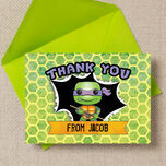 Turtle Superhero Thank You Card additional 3