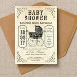 Vintage Pram Baby Shower Invitation additional 1