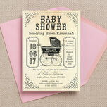 Vintage Pram Baby Shower Invitation additional 2