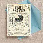 Vintage Pram Baby Shower Invitation additional 3