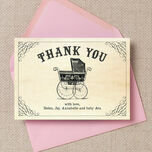 Vintage Pram Thank You Card additional 2