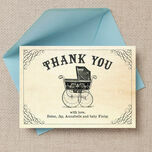 Vintage Pram Thank You Card additional 3