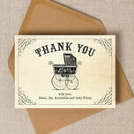 Vintage Pram Thank You Card additional 1