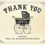 Vintage Pram Thank You Card additional 4