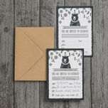 Pack of 10 Grizzly Bear Party Invitations additional 2