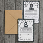 Pack of 10 Grizzly Bear Party Invitations additional 3