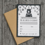 Pack of 10 Grizzly Bear Party Invitations additional 1