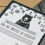 Pack of 10 Grizzly Bear Party Invitations additional 6