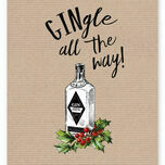 'Gingle All The Way' Non Personalised Christmas Cards - Pack of 10 additional 3