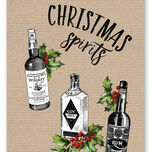 'Christmas Spirits' Non Personalised Christmas Cards - Pack of 10 additional 2