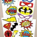 Printable Superhero Photo Booth Props additional 1