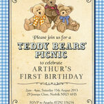 Teddy Bears' Picnic Kids Party Invitation additional 4