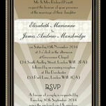 Art Deco Wedding Invitation additional 2
