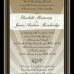 Art Deco Wedding Invitation additional 2