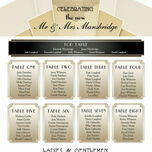 Art Deco Wedding Seating Plan additional 3