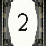 Art Deco Table Number additional 1
