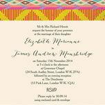 Aztec Ikat Wedding Invitation additional 2