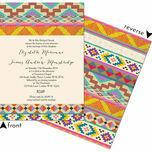 Aztec Ikat Wedding Invitation additional 3