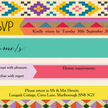 Aztec Ikat RSVP additional 1