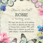 Butterfly Garden Party Invitation additional 3