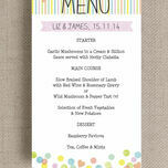 Candy Confetti Menu additional 2