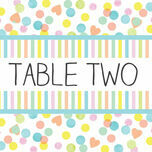Candy Confetti Table Name additional 1