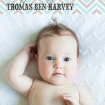 Chevron Birth Announcement Card additional 5