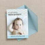 Chevron Birth Announcement Card additional 2