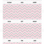Chevron Name Cards - Set of 9 additional 5