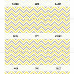 Chevron Name Cards - Set of 9 additional 4