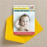 Circus Fun Birth Announcement Card additional 1
