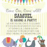 Circus Fun Party Invitation additional 3