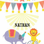 Circus Fun Name Cards - Set of 9 additional 1