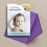 Dotty Delight Birth Announcement Card additional 1