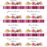 Elegant Floral Escort Cards - Set of 8 additional 2