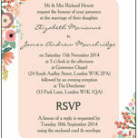 Elegant Floral Wedding Invitation additional 2