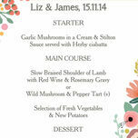 Elegant Floral Menu additional 1