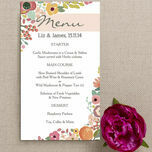 Elegant Floral Menu additional 2