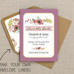 Elegant Floral Pattern Sheet/Envelope Liner additional 2