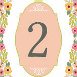 Elegant Floral Table Number additional 1