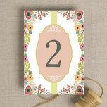 Elegant Floral Table Number additional 2